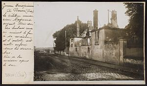 Albéric Magnard - Magnard's house destroyed by the Germans, 1914.