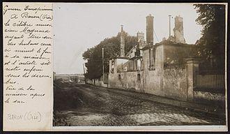Albéric Magnard - Magnard's house destroyed by the Germans, 1914.