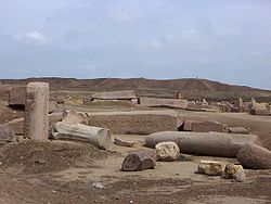 De ruïnes van Tanis vandaag