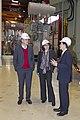 Rundgang ABB - (von links) NRW-Klimaschutzminister Johannes Remmel, Margit Thomeczek EnergieAgentur.NRW, Standortleiter ABB Matthias Reinhold (8496818425).jpg