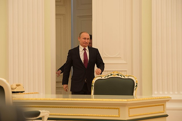 Russian President Putin Arrives for His Bilateral Meeting With Secretary Kerry in Moscow (25916793232).jpg
