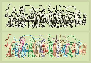 Vyaz (Cyrillic calligraphy) - Russian Vyaz of Axion Estin