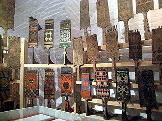 Distaff - Russian distaffs displayed at the museum of folk handicrafts at Ferapontov Monastery
