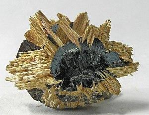 Epitaxy - Rutile on hematite, from Novo Horizonte, Bahia, Northeast Region, Brazil