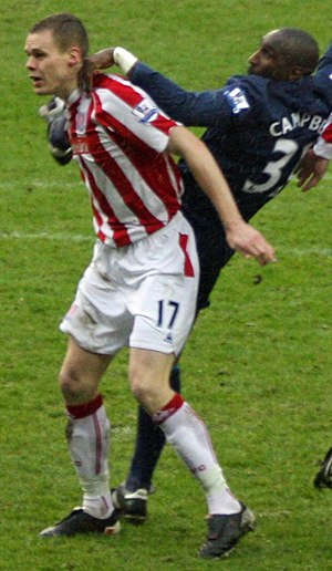 Sol Campbell - Campbell marking Stoke City's Ryan Shawcross in 2010.
