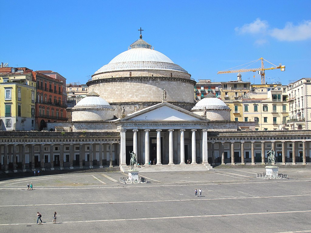 Eglise S.Francesco di Paola sur la Piazza Plebiscito dans le quartier San Ferdinando - Photo de Pietro Scerrato