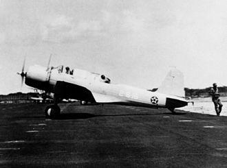 VMA-231 - An SB2U-3 of VMS-2 at MCAS Ewa, in 1941.