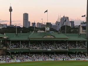 Cricket pavilion - Image: SCG members