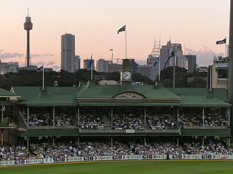 Cricket pavilion - Image: SCG members