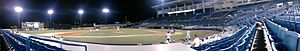 George M. Steinbrenner Field - Panoramic view of a Tampa Yankees game vs. the Charlotte Stone Crabs