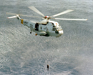 Sonar - AN/AQS-13 Dipping sonar deployed from an H-3 Sea King.