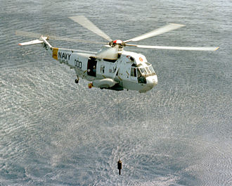 Sonar - AN/AQS-13 Dipping sonar deployed from an H-3 Sea King