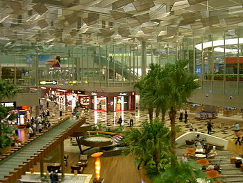 English: Inside the newly opened Terminal 3 at...