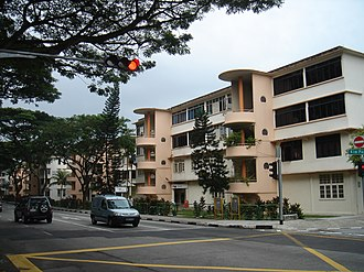 Public housing in Singapore - Early forms of private housing built by the SIT in Tiong Bahru in the 1950s.