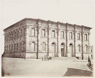 Australian Securities Exchange - The Sydney Stock Exchange building in 1872