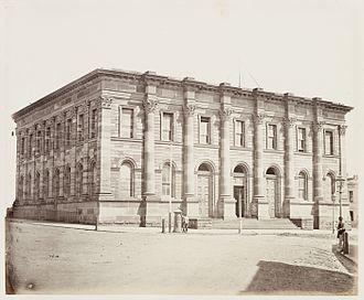 Australian Securities Exchange - The Sydney Stock Exchange building in 1872