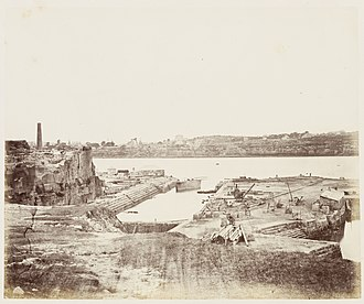 Cockatoo Island (New South Wales) - Cockatoo Island dry dock in 1872