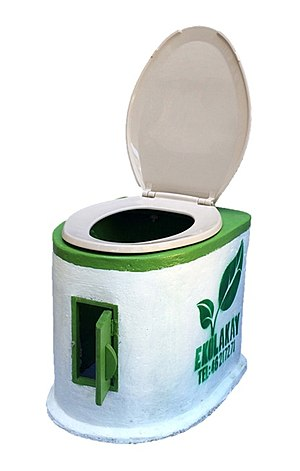 Container-based sanitation - The latest version of SOIL's EkoLakay container-based toilet.