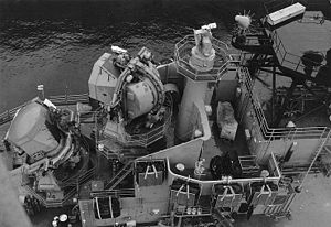SPG-49 and SPW-2 on USS Little Rock (CLG-4) 1966.jpg