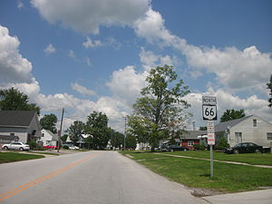 SR 66 through Spencerville, north of downtown.