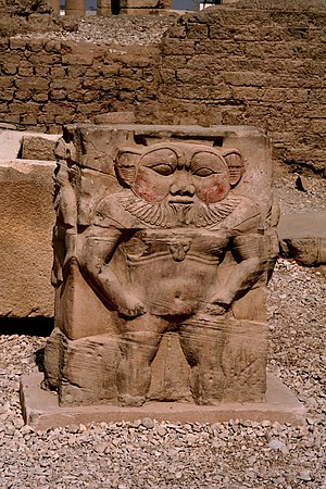 Bes - Bes relief at the Dendera Temple, Egypt