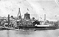 S S Rotomahana berthed alongside Fraser and Tinnes foundry, Mechanics Bay in 1876.jpg