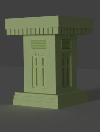 Ancient South Arabian art - 3d model of Sabaean altar found in the vicinity of Barran Temple in Marib