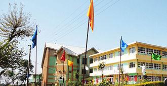 Sacred Heart Sr. Sec. School (Sidhpur) - The school's two main buildings