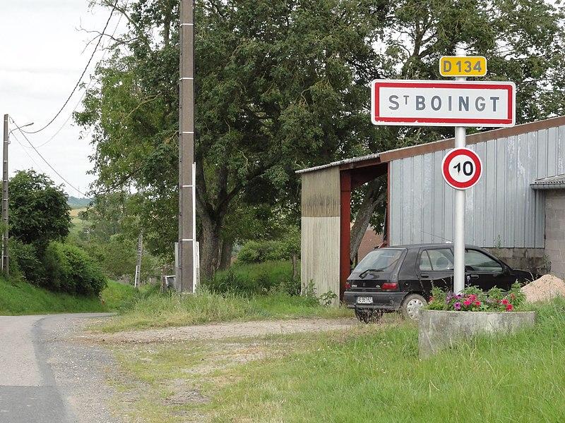 Saint-Boingt (M-et-M) city limit sign