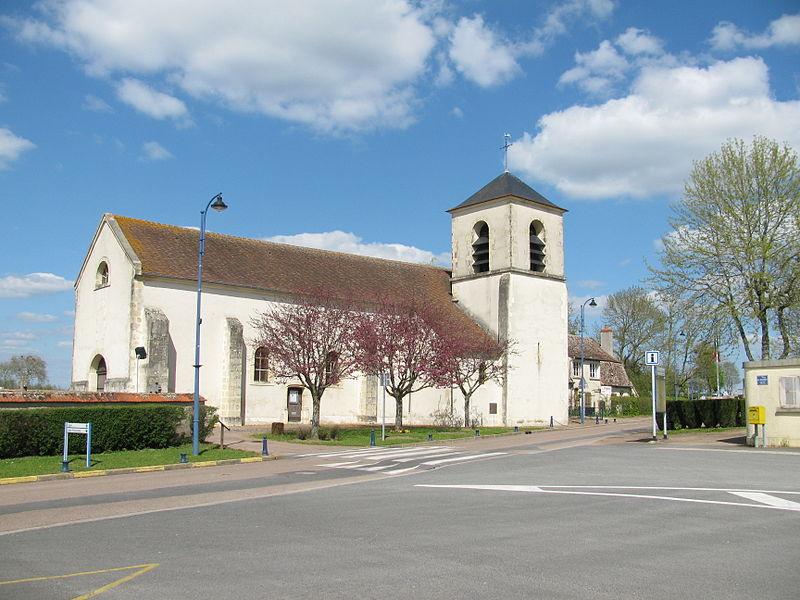 Église Saint-Maurice de Sermoise-sur-Loire, Nièvre, France.