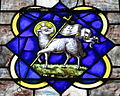 Saint Luke Catholic Church (Danville, Ohio) - stained glass, Agnus Dei.JPG
