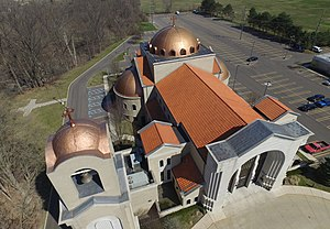 Antiochian Orthodox Christian Archdiocese of North America - Saint Mary's Antiochian Orthodox Christian Church Livonia Michigan - photo by Airal(www.airial-drones.com)