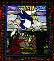 Saint Matthew the Apostle Church (Gahanna, Ohio) - stained glass, Angel with the women at the tomb - detail, the Ascension.JPG
