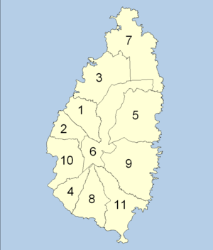 map of quarters of saint lucia the full wiki. Black Bedroom Furniture Sets. Home Design Ideas