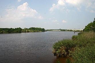Sampit River - Sampit River (tidal) just above Georgetown