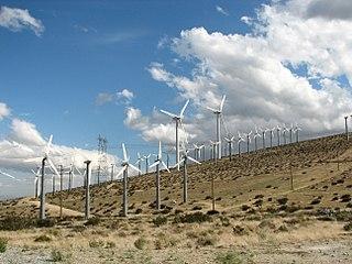San Gorgonio Pass wind farm located on the eastern slope of the San Gorgonio Pass