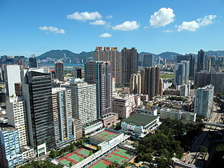 Wong Tai Sin District District in Kowloon, Hong Kong