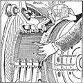Sandpapering a motor commutator (Electrical Machinery, 1917).jpg