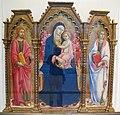 Sano di pietro, madonna col bambino e i santi giacomo maggiore e giovanni evangelista, 1450 ca. 01.JPG