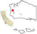Santa Barbara County California Incorporated and Unincorporated areas Vandenberg AFB Highlighted.svg