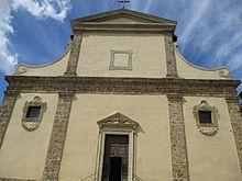Facciata della chiesa collegiata di Santa Maria Assunta