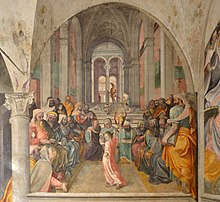 Santo Corpo di Cristo church fresco Christ in the Temple Brescia.jpg