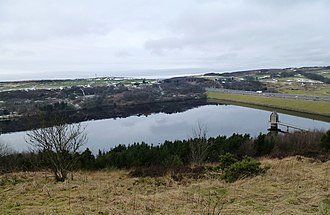 Scammonden Reservoir - Scammonden Reservoir and the M62