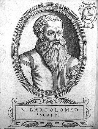 Italian cuisine - Bartolomeo Scappi, personal chef to Pope Pius V