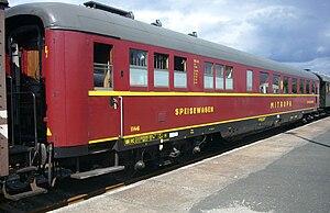 Mitropa - Restored 1939 Wumag Mitropa diner in Sonneberg, 2009