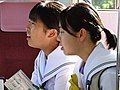 Schoolgirls aboard Commuter Train from Koyasan - Japan (47971096786).jpg