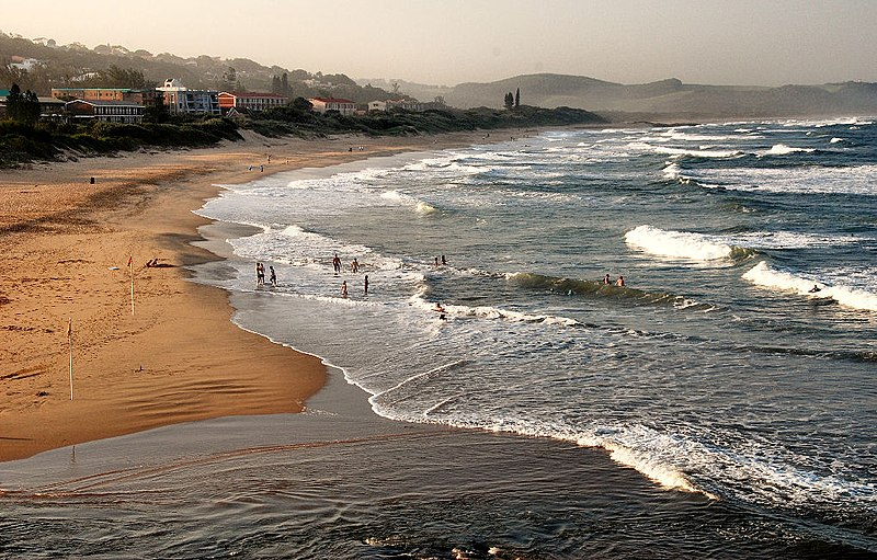 File:Scottburgh Beach, South Africa.JPG