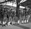 Scouting, train station, lederhosen Fortepan 55747.jpg