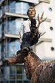 Sculpture Mann mit Hirsch Stephan Balkenhol Andreaeplatz Hanover Germany 02.jpg