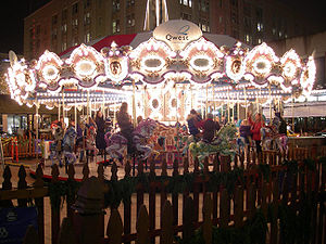 Westlake Park (Seattle) - Carousel at Westlake Park for the holiday season